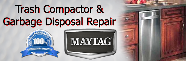 Maytag trash compactor and garbage disposal repair  Kohrville
